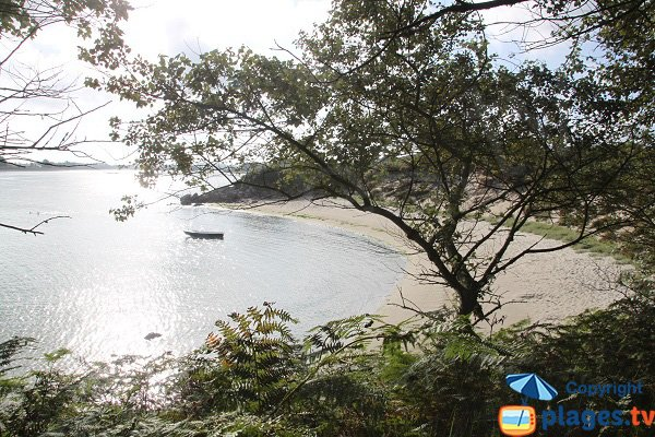 Vue depuis la plage des Garennes - Guissény