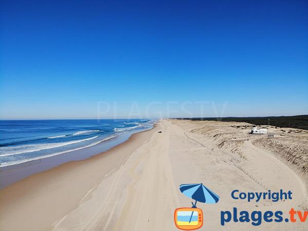 Foto della spiaggia Lespecier a Mimizan (Francia)