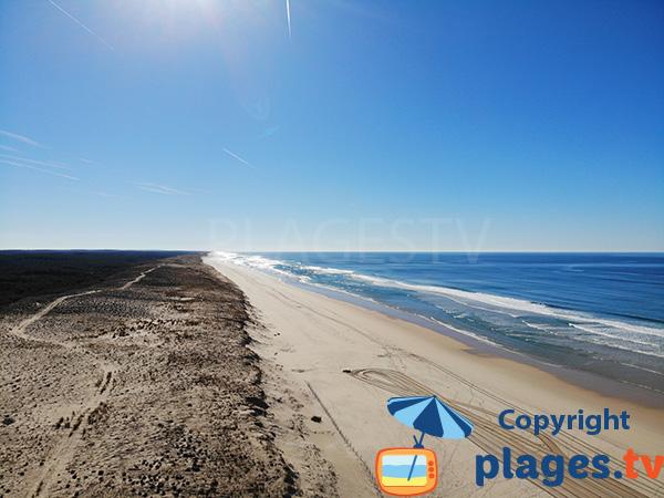 Dunes and beach of Mimizan