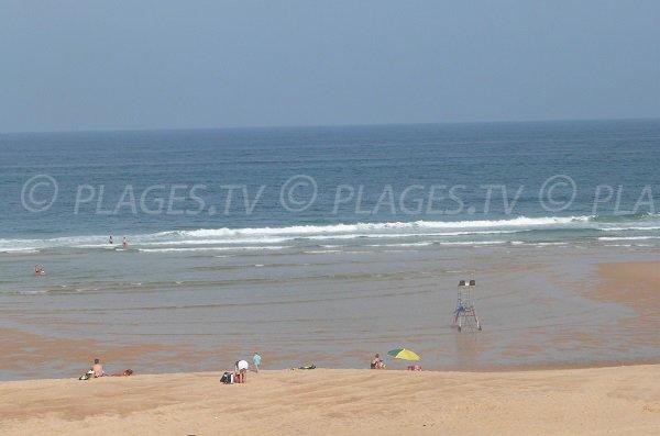 Photo de la plage de la Lette Blanche dans les Landes