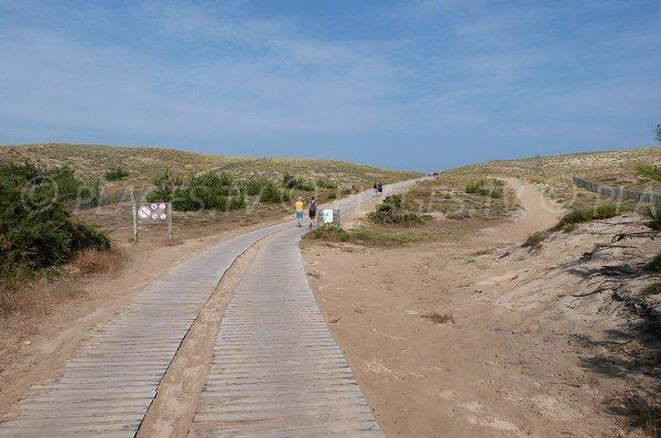 Accès à la plage de la Lette Blanche - Vielle St Girons