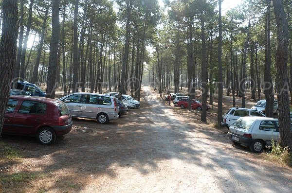 Parking of Lette Blanche beach - Vielle Saint Girons