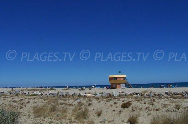 Environnement de la plage sud de Leucate