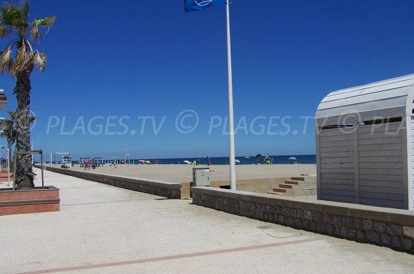 Promenade aménagée le long de la plage de Leucate