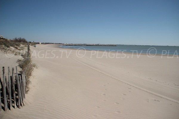 Plage de sable du Levant à La Grande Motte