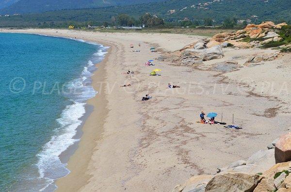 Photo de la plage de Liamone en Corse (Casaglione)