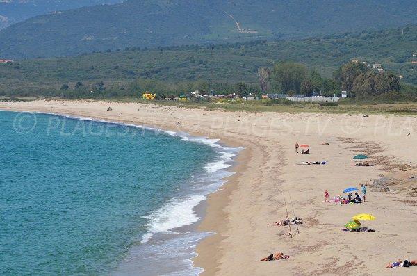 Sand beach in Casaglione in Corsica