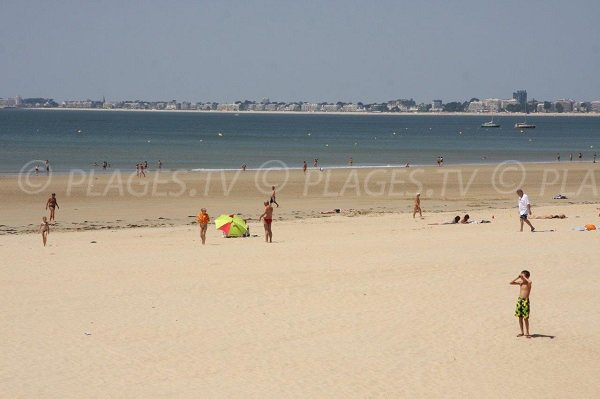 Central beach in Pornichet in France
