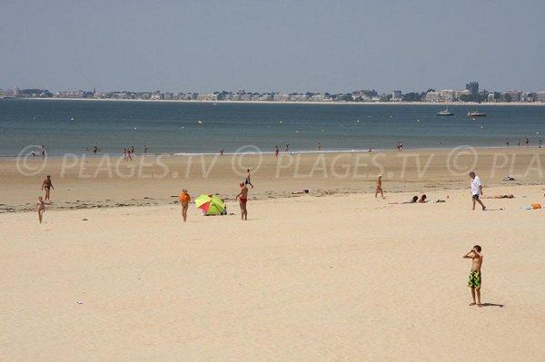 Spiaggia del centro cittadino di Pornichet