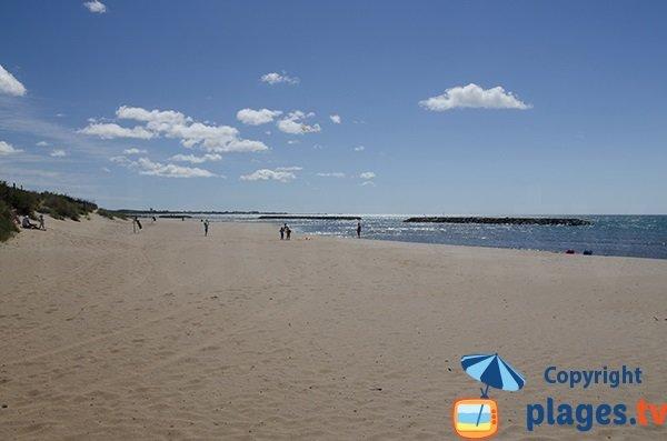 Photo de la plage du Libron à Vias
