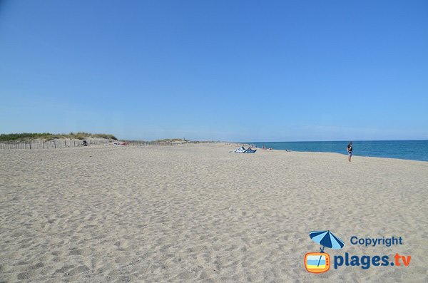 Lido beach in Canet en Roussillon in France