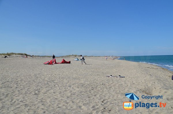 Photo of Lido beach in Canet en Roussillon in France