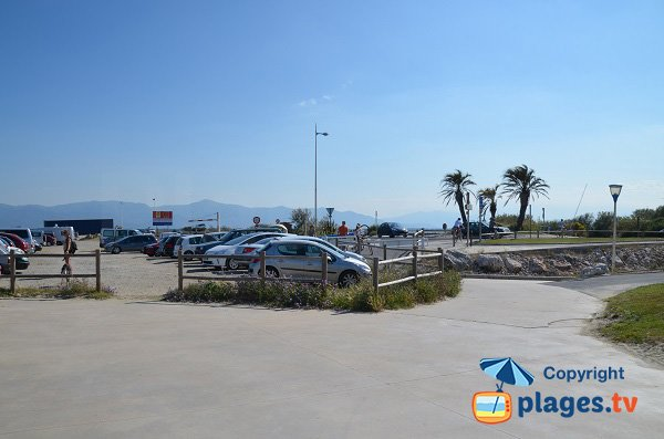 Free Parking of Lido beach in Canet-Plage