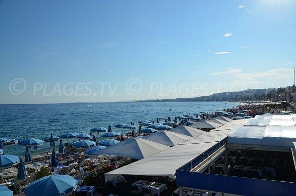 Plage privée sur la plage du Lido de Nice