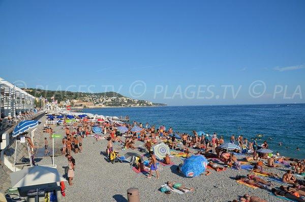 Photo de la plage du Lido de Nice en été