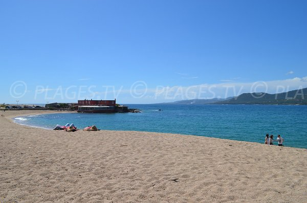 Beach next to Propriano port