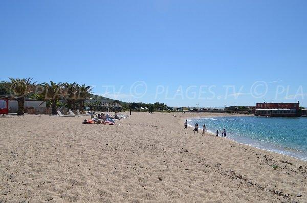 Private beach in Propriano in Corsica