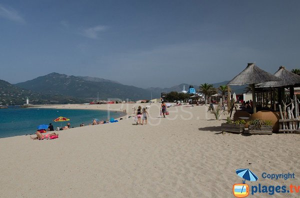 Restaurants on Lido beach - Propriano