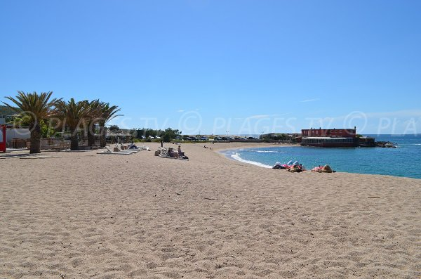 Lido beach in Propriano - Corsica