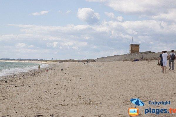 Linès beach in Plouhinec towards Gâvres