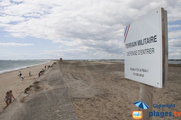 Beach near the training area of French Navy in Plouhinec