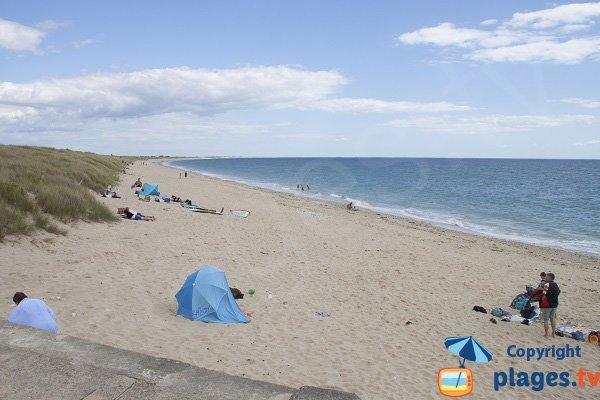 Linès beach in Plouhinec - France