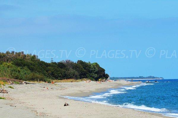Tip of Linguizzetta beach in Corsica