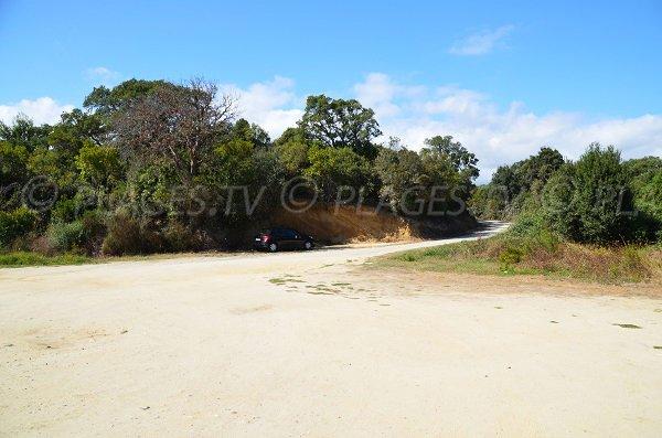 Parking of Linguizzetta beach