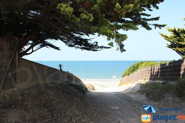 Access to Linière beach  - Ile de Noirmoutier