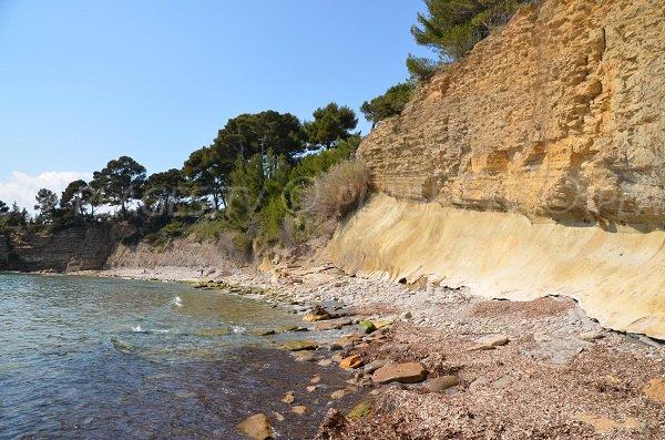 Nudist beach in La Ciotat - Liouquet