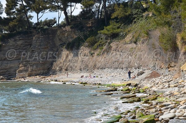 Photo of the nudist beach of La Ciotat