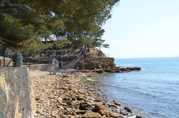 Photo of the Liouquet beach in La Ciotat