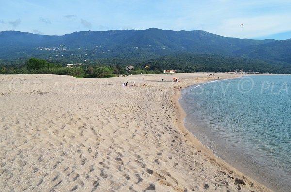 Photo de la plage de Liscia - zone nord