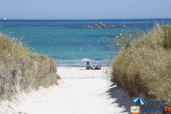 Accès à la plage du Lividic à Plounéour-Trez