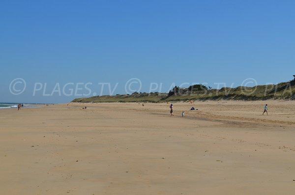 Plage de Lizay avec les dunes - Ile de Ré