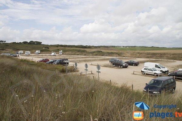 Parking de la plage du Loch à Guidel