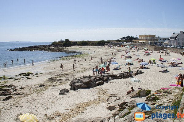 Photo de la plage de Locqueltas à Larmor-Plage