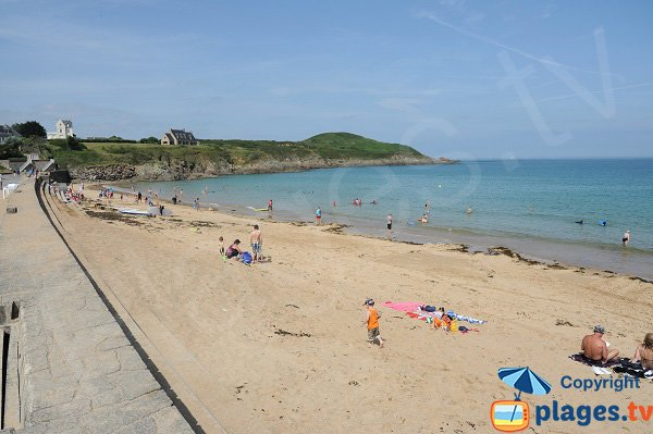 Longchamp beach in Saint Lunaire in France