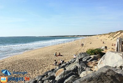 Beach in Longeville sur Mer in France