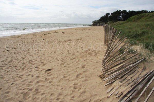 Photo de la plage dans la baie de Lanchale à Pénestin
