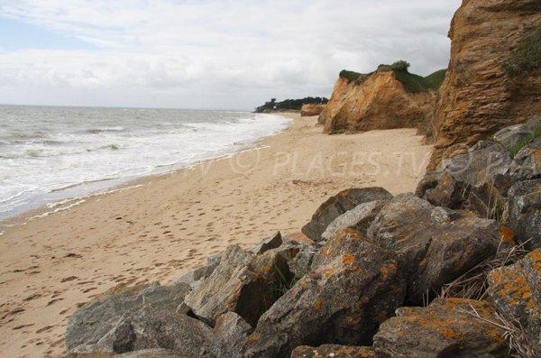 Loscolo beach at the point of Goulumer - Pénestin