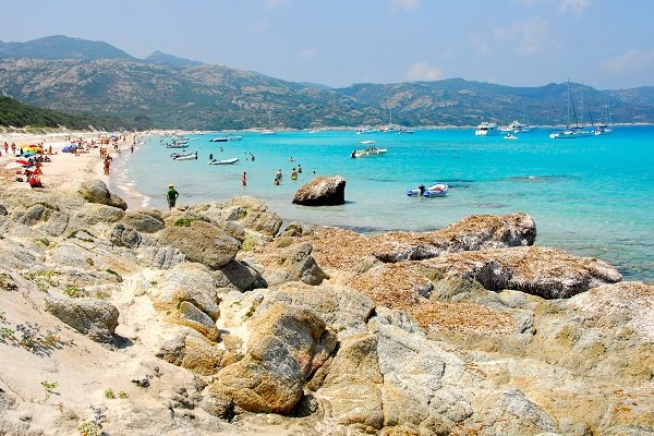 Lodo beach in Saint Florent in Corsica