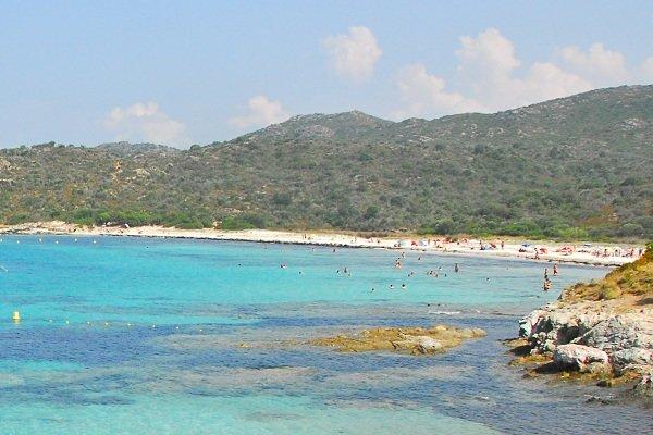 Lotu beach in St Florent gulf in Corsica