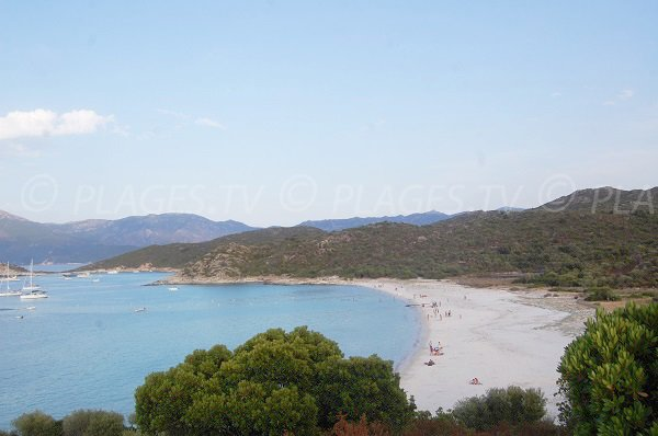 Photo of Lotu beach in St Florent in Corsica