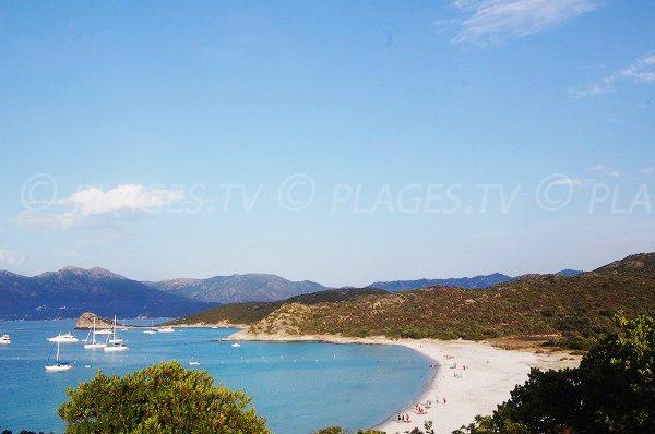 Lotu beach in Agriate desert in Corsica St Florent