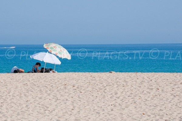 Grande plage en Corse - Belgodère - Lozari