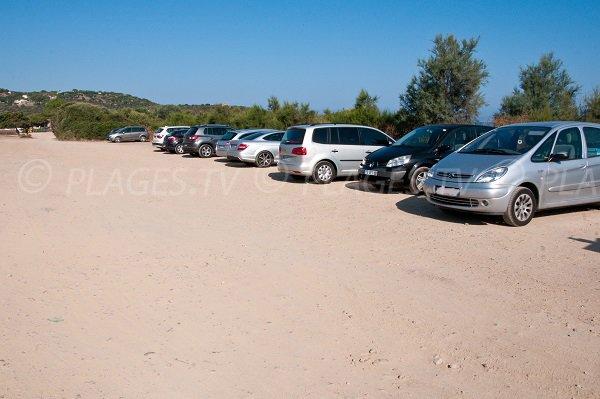 Parking de la plage de Lozari - Corse