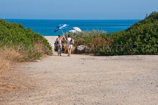 Sentier d'accès plage de Lozari