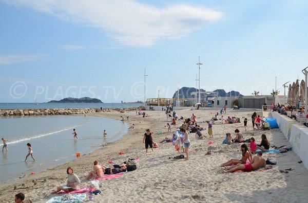 Lumiere beach in La Ciotat - France