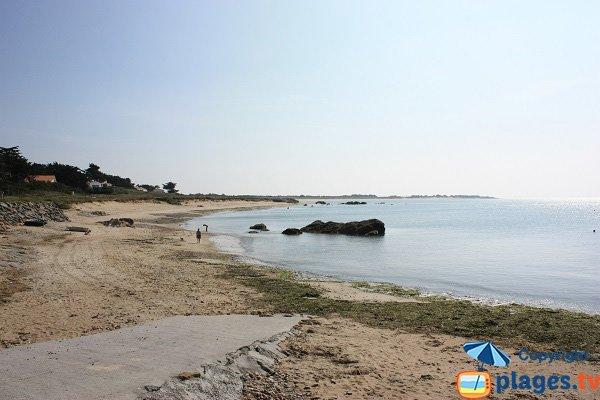 Photo de la plage des Lutins à Noirmoutier